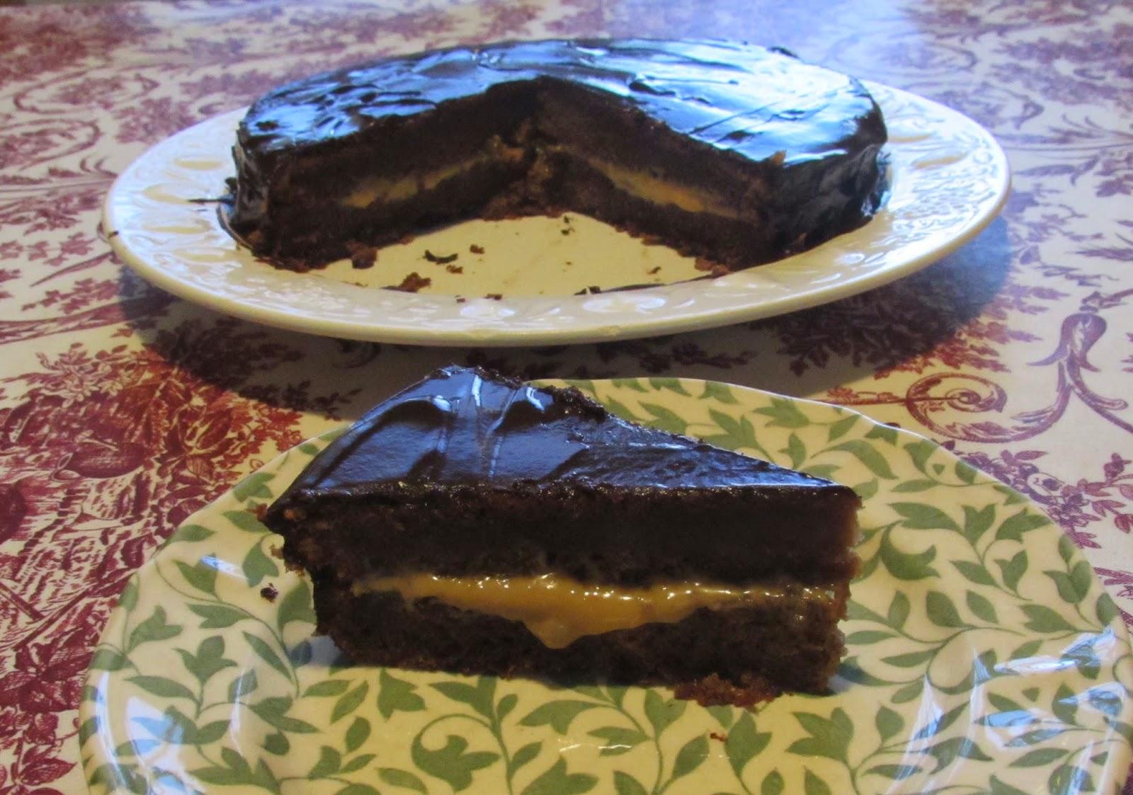 Bizcocho de galletas con chocolate principe