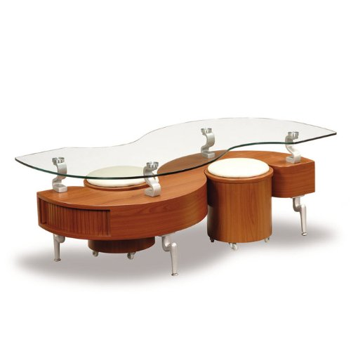 Form Function Cocktail And Coffee Tables With Ottomans Underneath