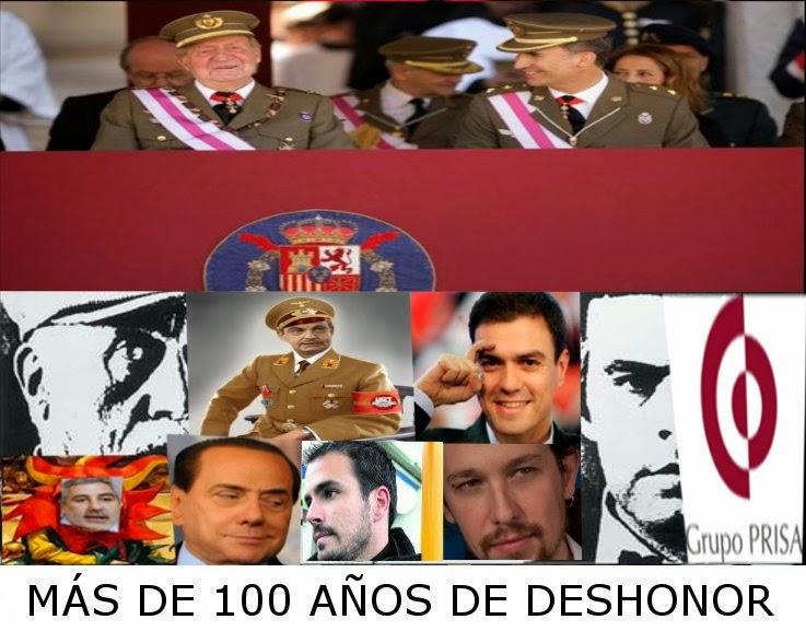 PSOE: Más de 100 años de deshonor