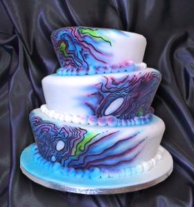 Cake Decorating Airbrush Nz : Kiwi Cakes: Kiwicakes & Chocolate Earth airbrush collaboration