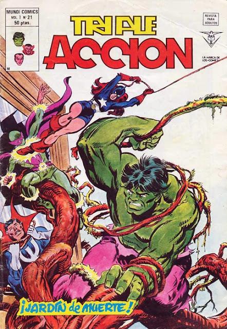 Portada de Triple Acción Volumen 1 Nº 21 Ediciones Vértice