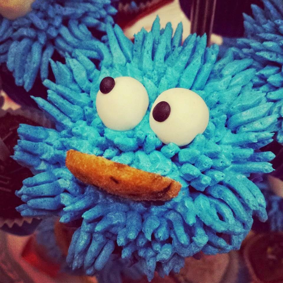 Monstrinho das bolachas- cupcakes