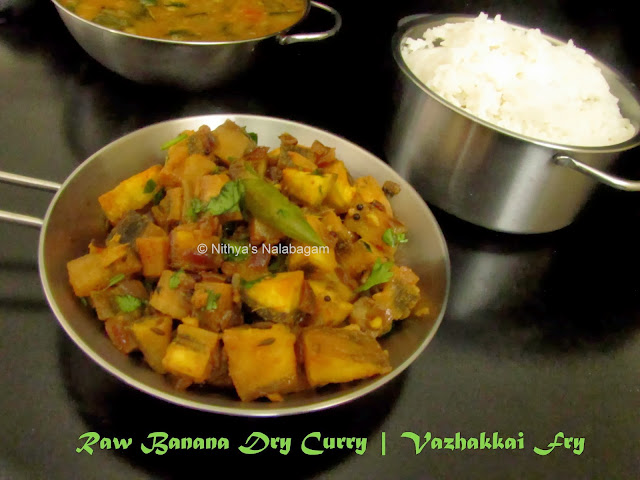 Vazhakkai Poriyal | Raw Banana Dry Curry
