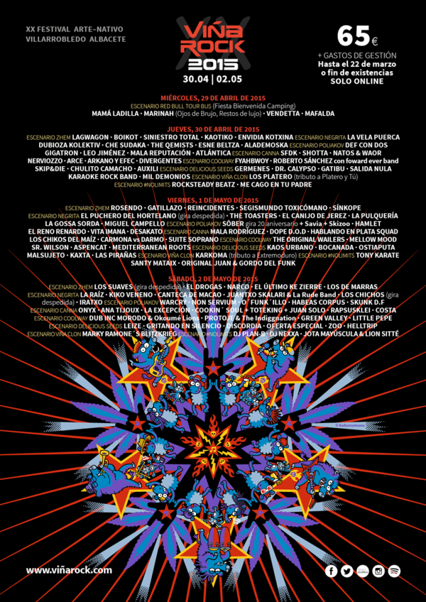 Cartel ViñaRock 2015