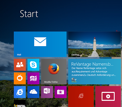 ReVantage Blog als Windows 8.1 Live Tile