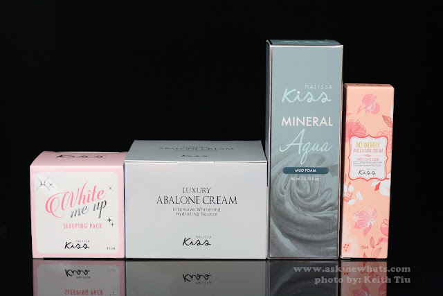 A photo of Malissa Kiss Skincare products
