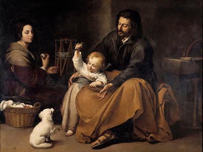 La Sagrada Familia obra del pintor español Murillo
