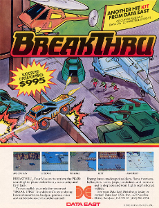 BreakThru arcade game portable flyer