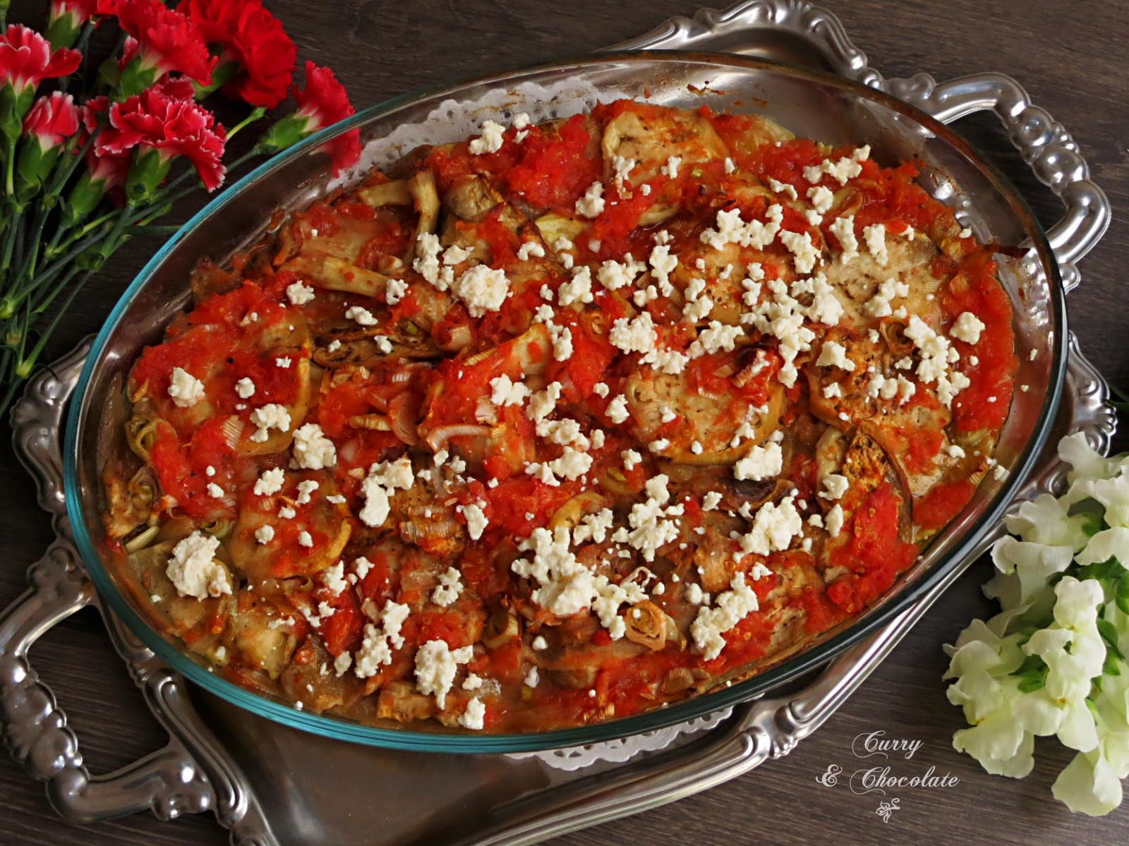 Briam griego o verduras asadas – Greek Briam (oven baked vegetables)
