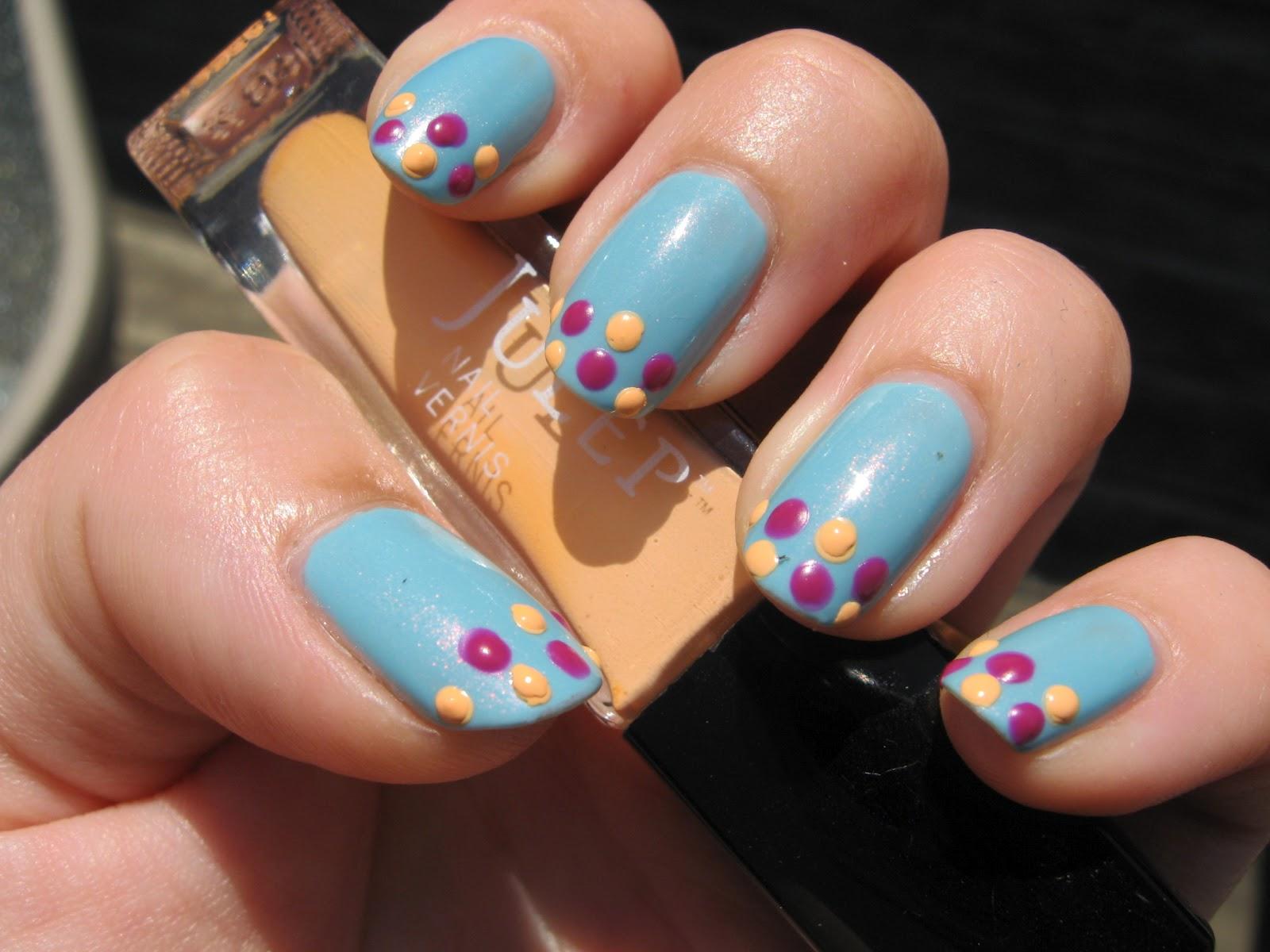 NOTDPolkaDotFrenchTipNailArt2 - Beautifull nail colours :)