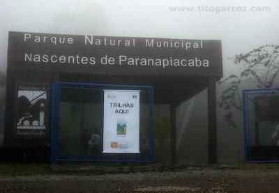 Entrada do parque municipal Nascentes de Paranapiacaba