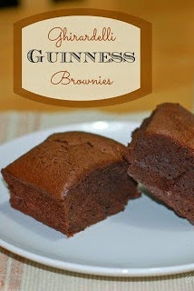 Ghirardelli Guinness Brownies @www.thesweetchick.com