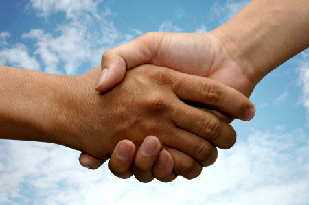 Since many men are religiously conservative many men won't shake hands with