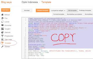 Cara backup data dan theme blogspot sekaligus, tips blogger pemula, opini indonesia