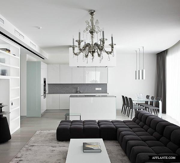 C mo integrar la cocina en el sal n kansei cocinas - Cocina en salon ...