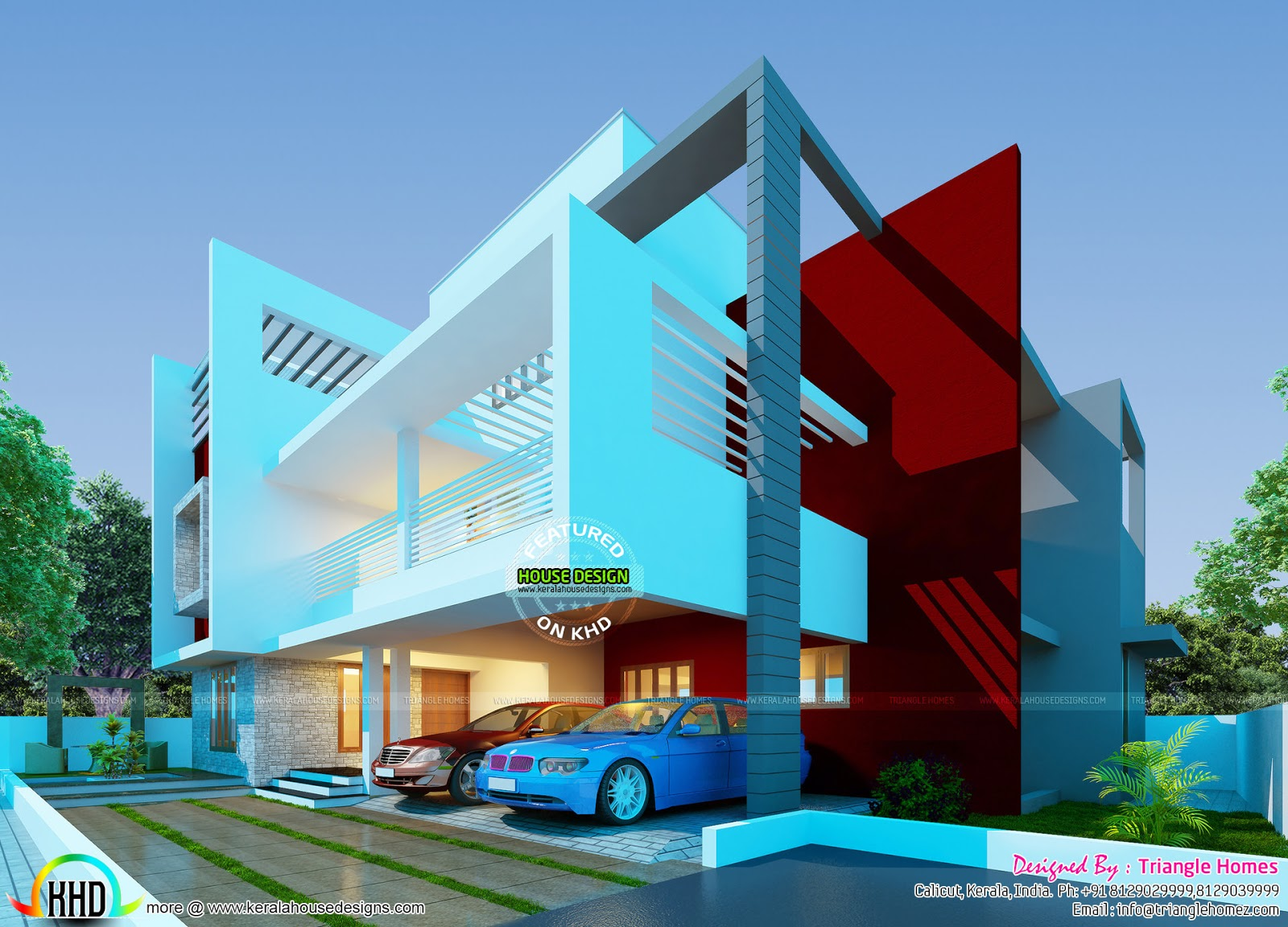 November 2015 kerala home design and floor plans for Contemporary style home plans