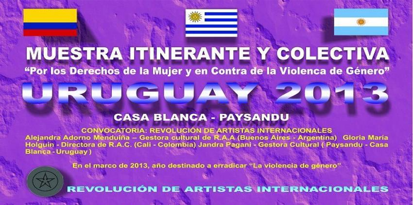 "Muestra Itinerante y Colectiva ""Por los Derechos de la Mujer..."""