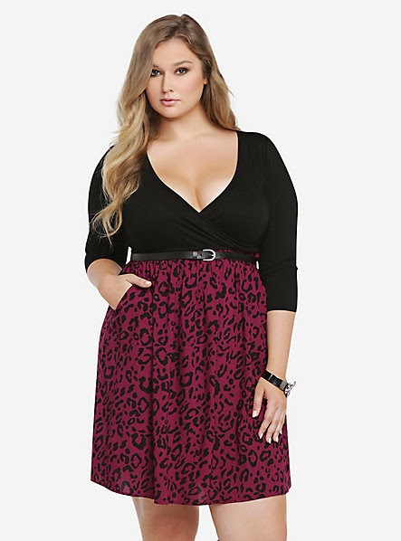 http://www.torrid.com/torrid/Dresses/Casual/Animal+Print+Knit-To-Woven+Belted+Dress-10205227.jsp