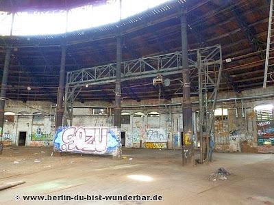 berlin, pankow, bahn, lokschuppen, drehschiene