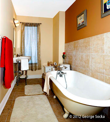 Residential Interior Photography - Narrow Bathroom