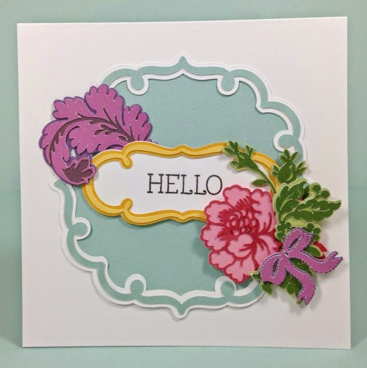 Cricut  Whimsical Anna Griffin card