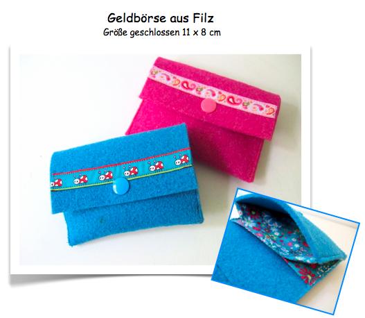 Freebook Filz-Geldbörse