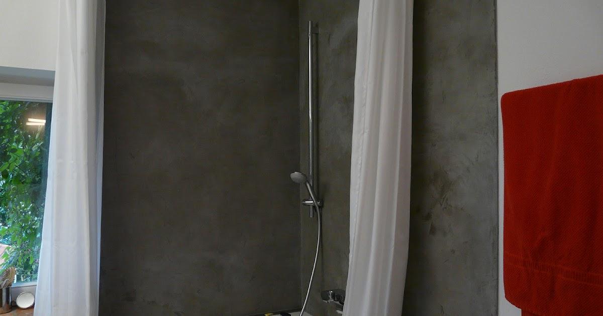 Wand wohndesign beton cire beton cir bad in betonoptik for Wohndesign 2012