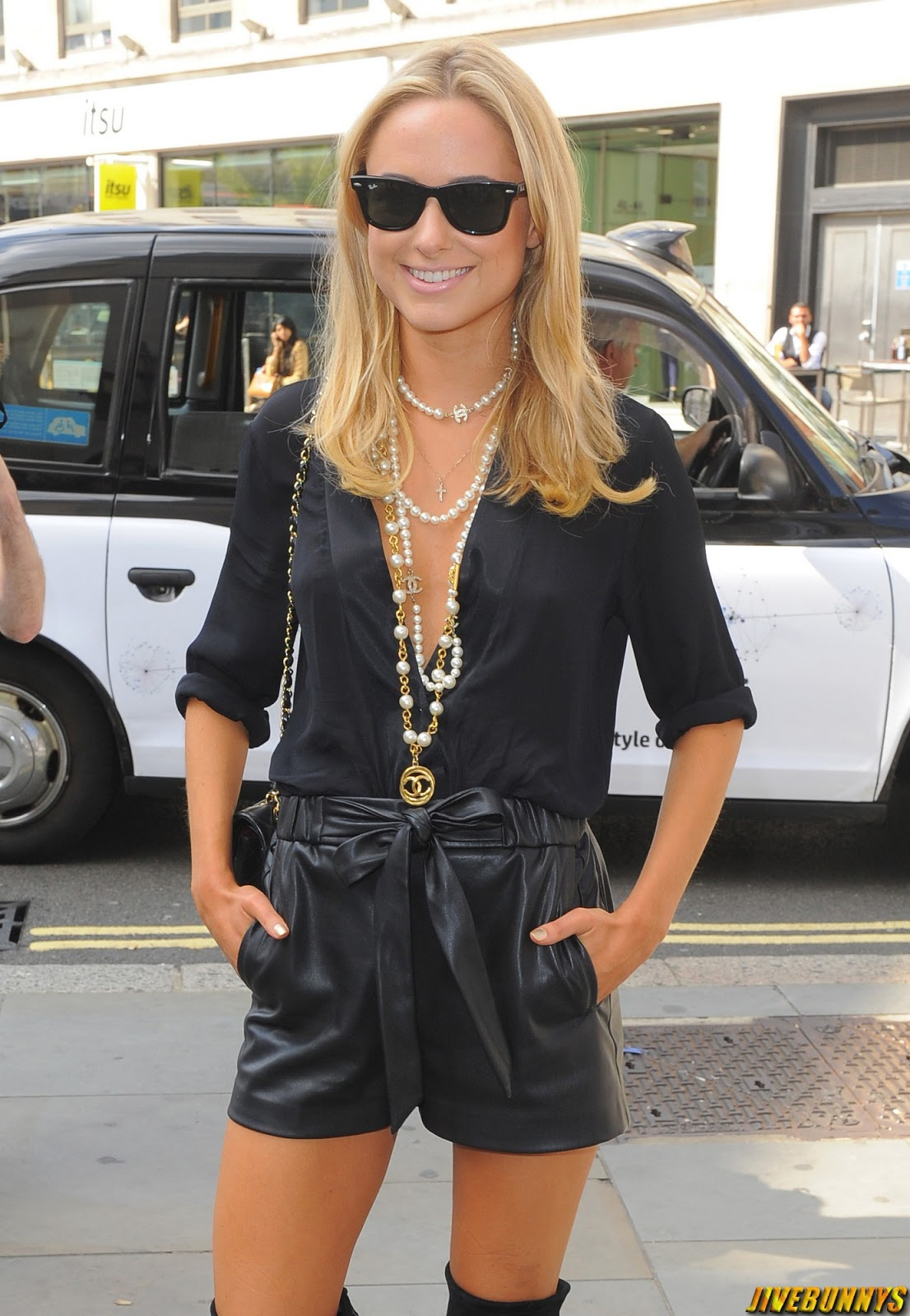 Kimberley Garner @ Somerset House for London Fashion Week - 12/09/2014