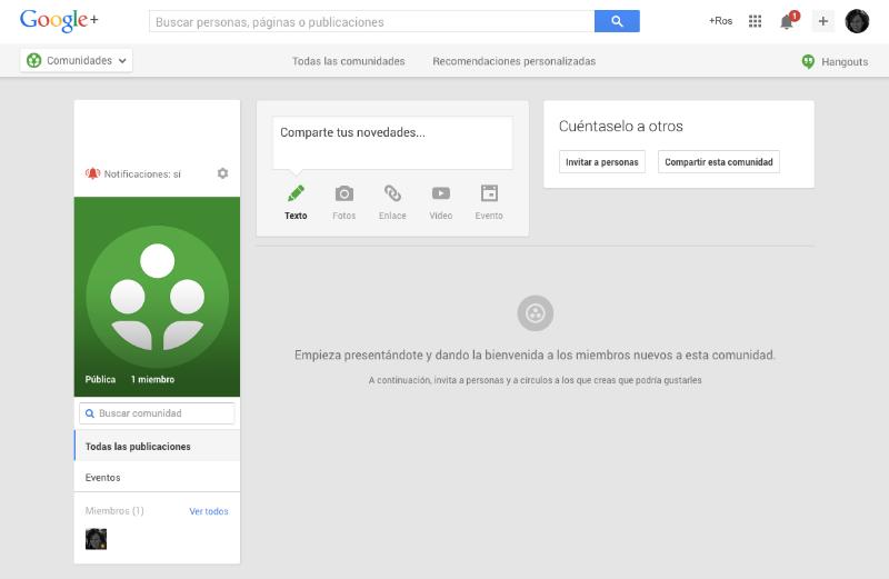 Las comunidades de Google Plus