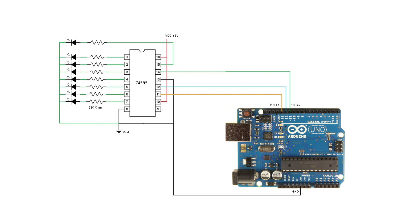 Multiplexing With Arduino and the 74HC595: 14 Steps