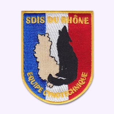 Ecusson Pompiers du Rhone, equipe cynophile