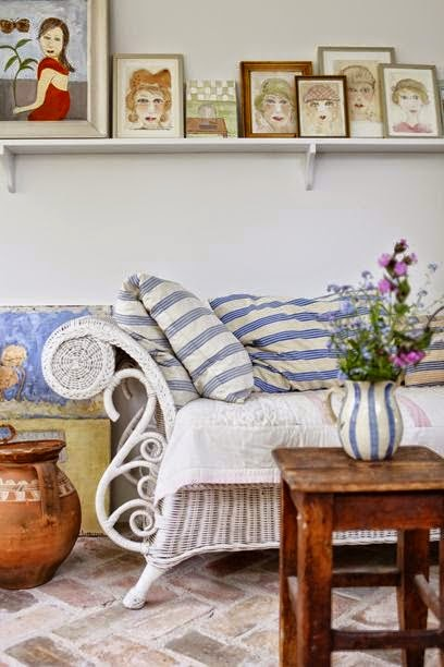 Amores bohemios una casa decorada con el encanto buc lico y rom ntico del estilo shabby chic - Casas decoradas con encanto ...