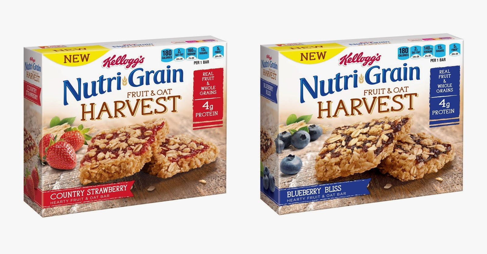 Nutri-Grain Fruit and Oat Harvest bars