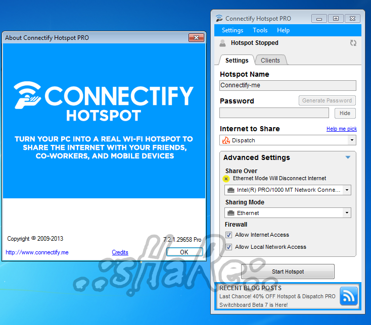 Connectify Hotspot & Dispatch v7.2.1