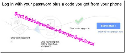 Way 2. Enable 2-step verification --Secure your Google Account