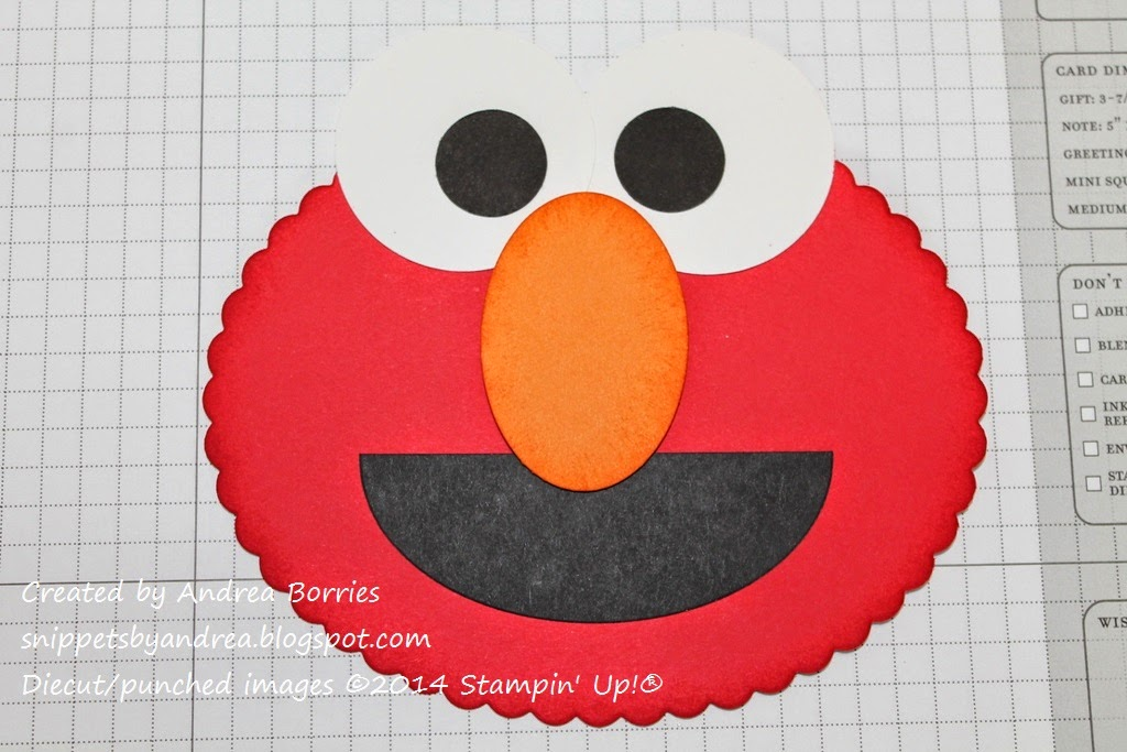 Elmo's mouth added to the card base.