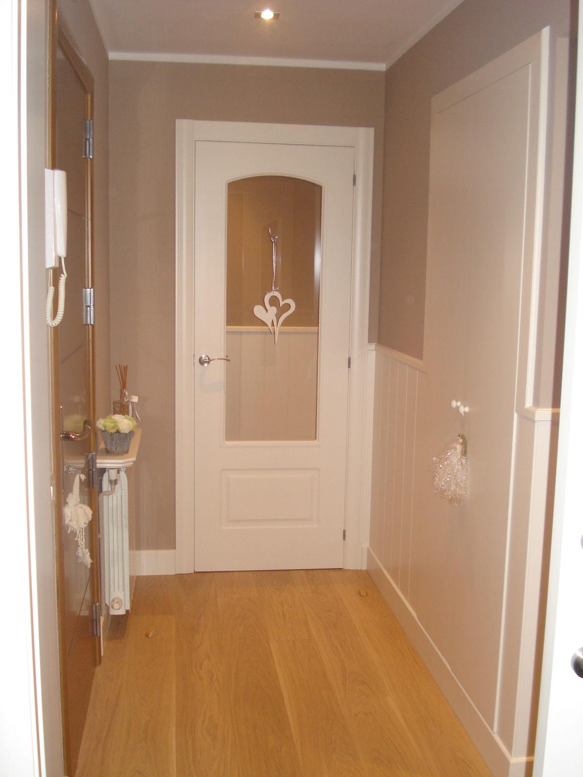 Puertas de ba o blancas for Puertas blancas con vidrio