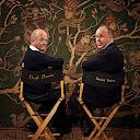 El productor David Barron (izquierda) y el director David Yates (derecha)