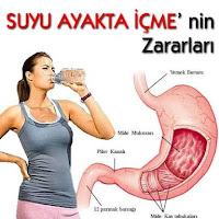 Ayakta su ve sıvı içmenin zararları