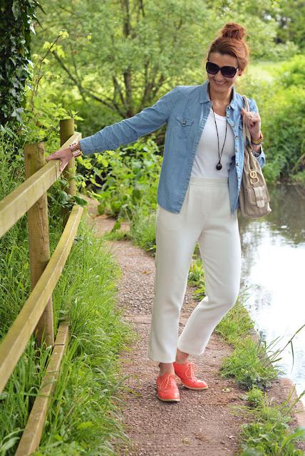 Chambray Shirt & Coral Brogues | Not Dressed as Lamb