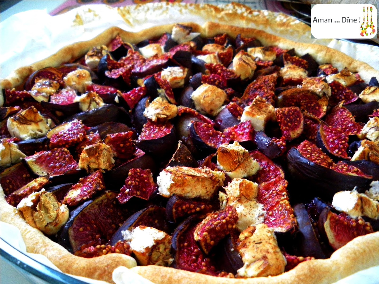 Tarte fine figue-cannelle