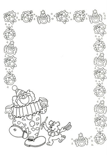 Manualidades para ni os borde de payasos para colorear - Pagina da colorare bulbasaur ...