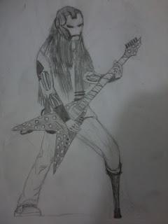 Guitarrista 1 (desenho)