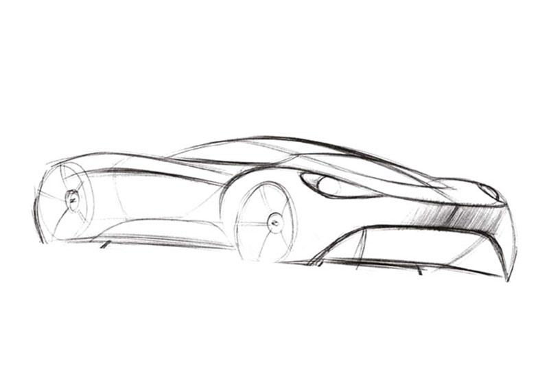 how to draw a car aston martin