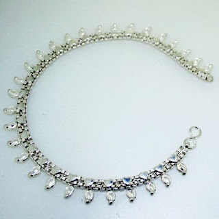 Attractive Designed Silver Anklets