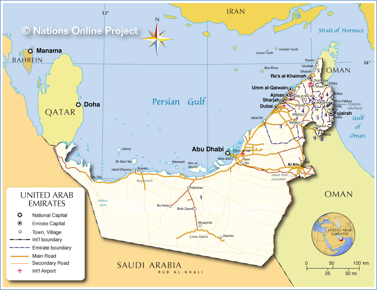 Locations and Directions  United Arab Emirates