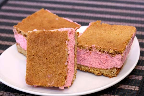 Lemon-Raspberry Sandwiches Recipe — Dishmaps