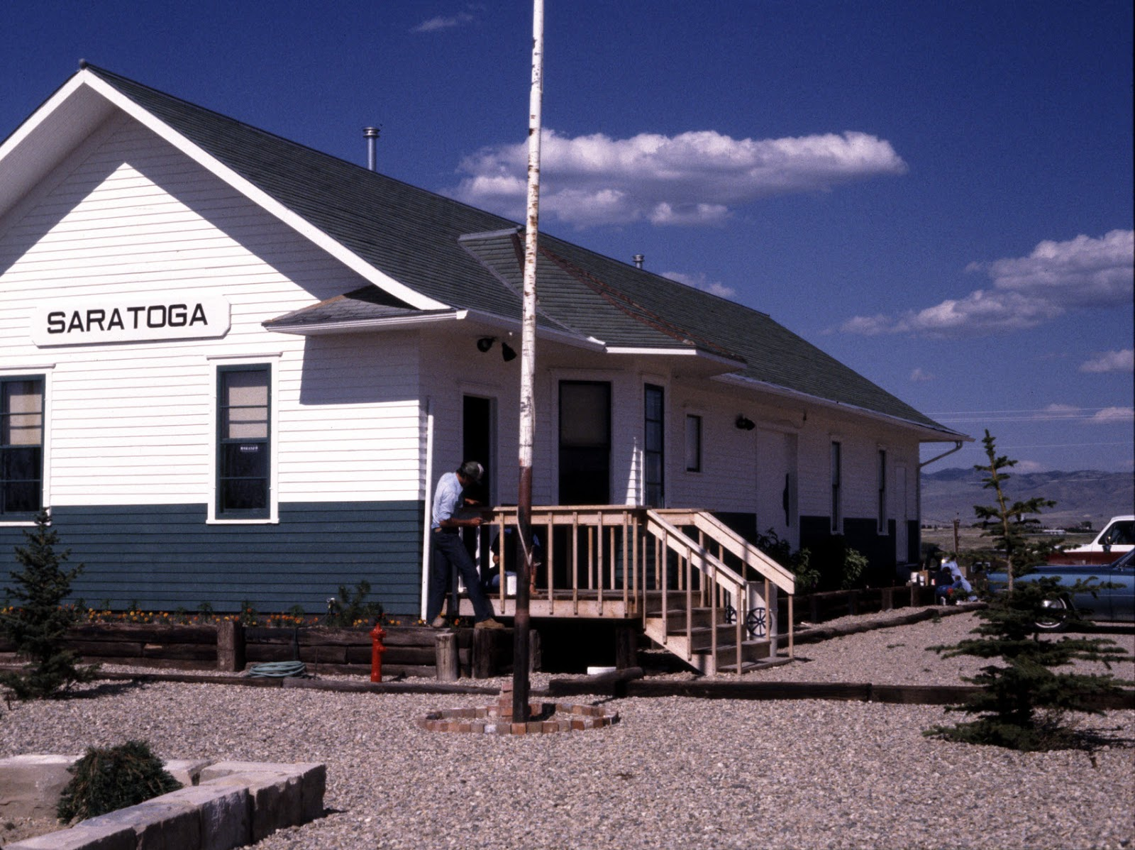 Saratoga & Encampment Railway depot