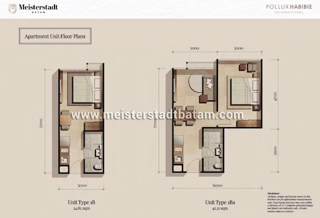 Apartemen Meisterstadt Batam - Wunderbar Residences Tipe 1 BR