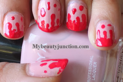 Blood drip manicure for Hallowe'en nail art challenge with Zoya Avril